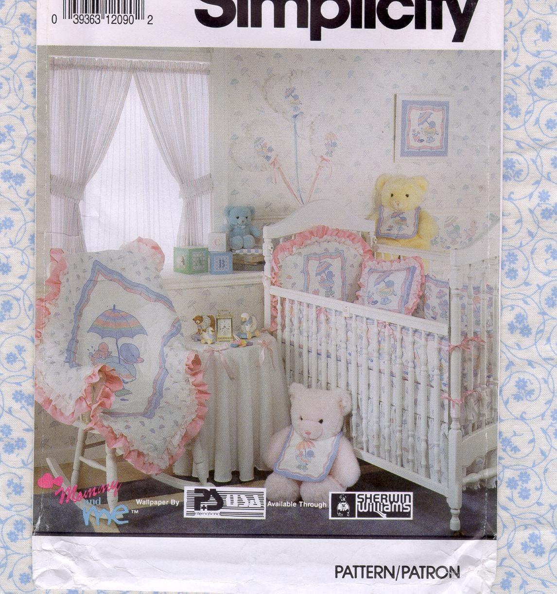 Uncut Baby Nursery Sewing Pattern Simplicity By