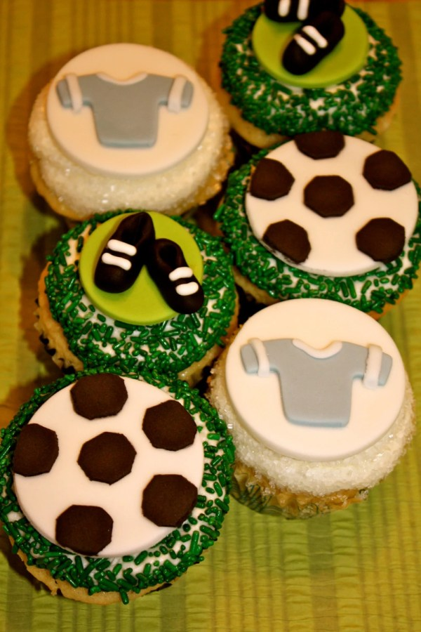 Fondant Soccer Fan Cupcake And Cookie Toppers 1 Dozen