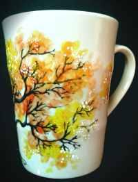 Inspired hand painted mug