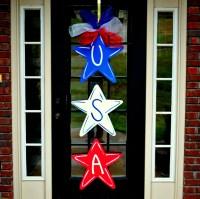4th of July Wreath Door Hanger: 4th of July Decor Summer