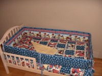 International Harvester / Farmall Crib Bedding SET Rag Quilt