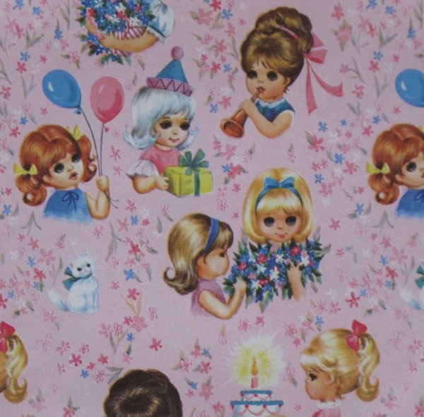 Vintage Birthday Wrapping Gifts