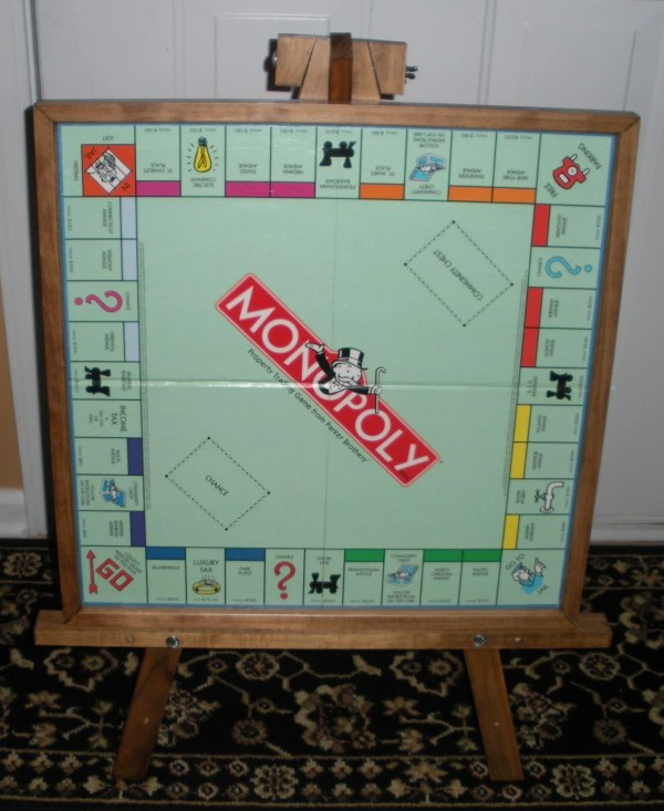Monopoly Wood Game Board Wall Art Upcycled-home