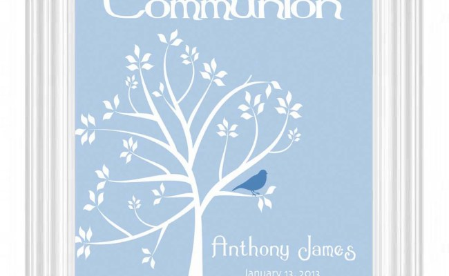 Communion Personalized Gift First Holy Communion Print Boys