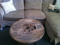 Items similar to Upcycled Spool Coffee Table (Beach Style ...