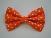 orange bow fabric bows hair