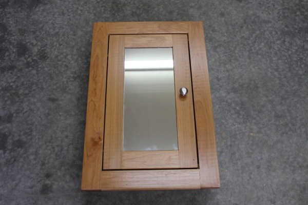 Rustic Cherry Recessed Medicine Cabinet Shaker Style