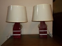 Pair of Nautical Lobster Buoy Lamps. Made in by ...