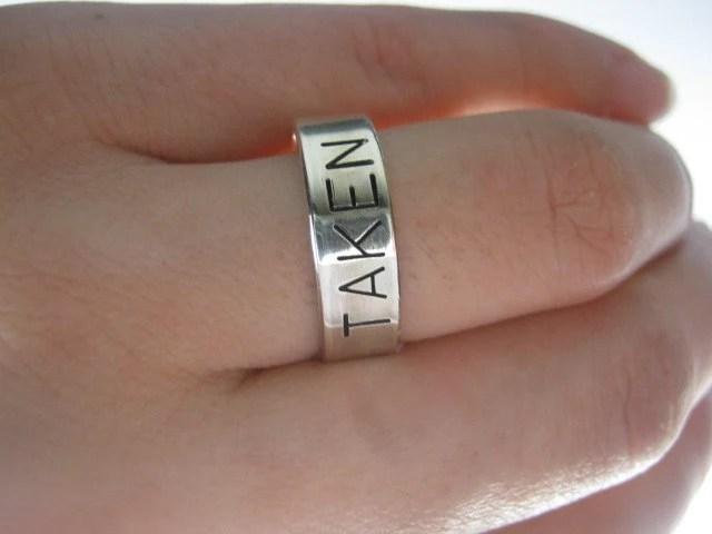 Taken Ring Engagement Ring Sterling Silver Ring Anniversary