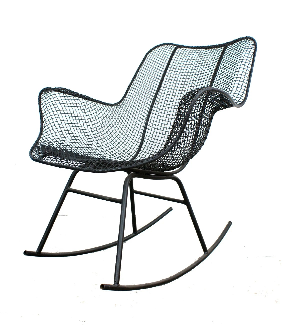mid century rocker chair patio replacement parts woodard sculptura rocking modern eames on