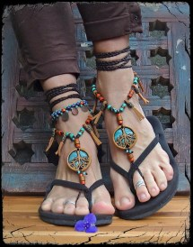 Tribal Tree Barefoot Sandals