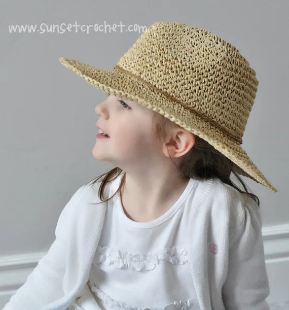 Wide Brimmed Summer Sunhat Straw Hat Crochet Pattern 269