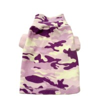 X Small Purple Army Print Dog Clothes Boutique Pet Puppy