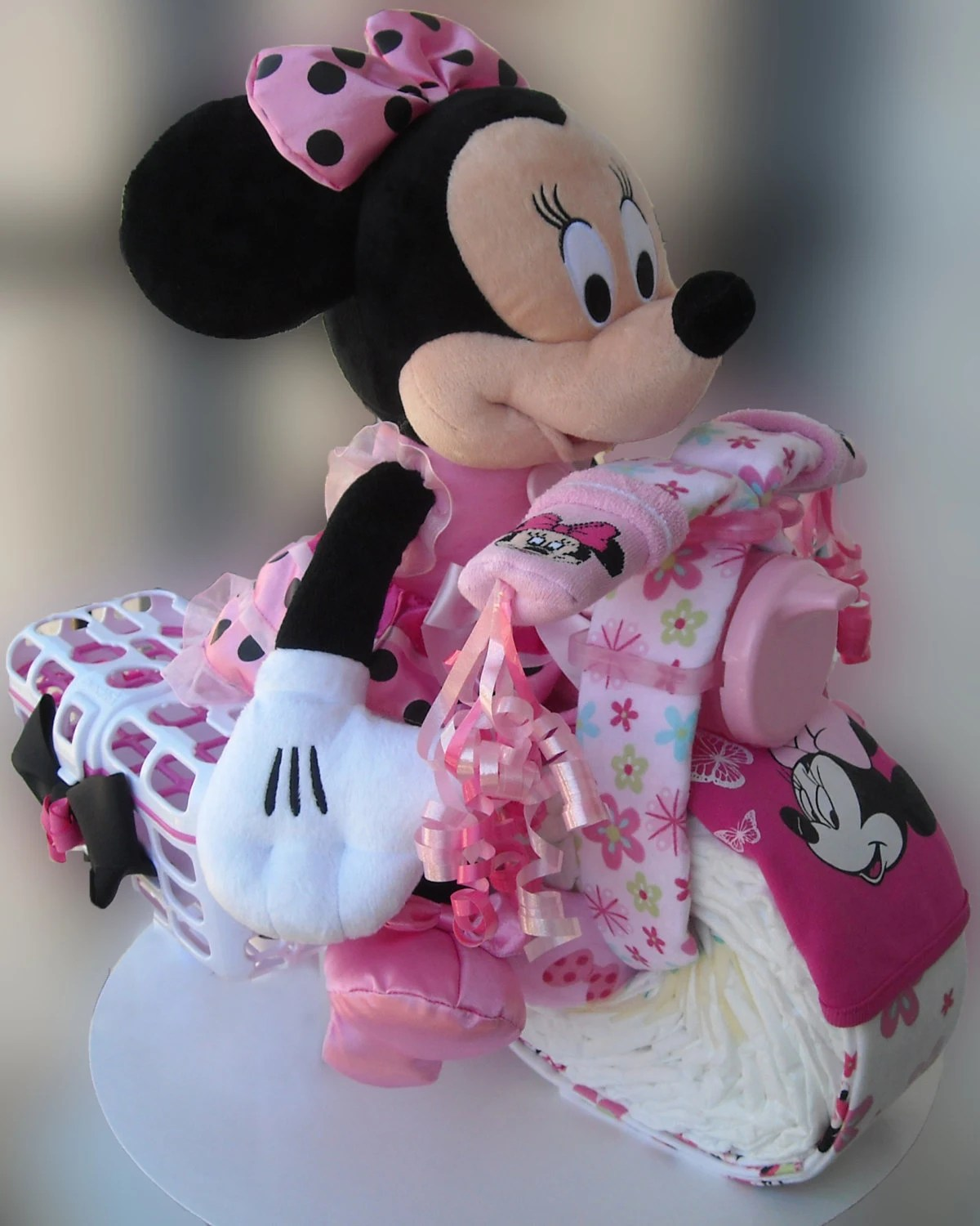 Motorcycle Diaper Cake Minnie Mouse