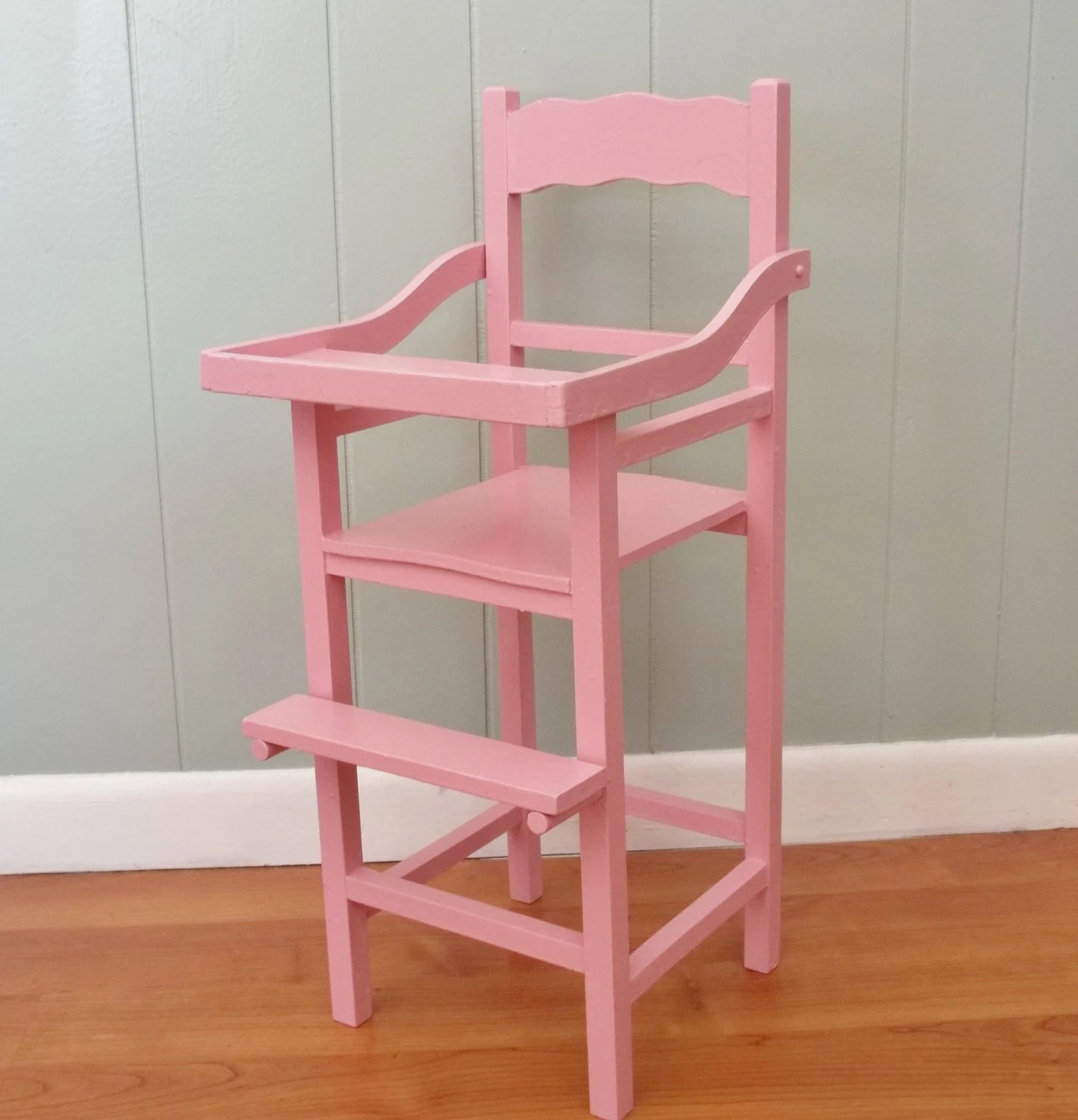 high chair for dolls husk replica wooden wood doll highchair is an upcycled vintage