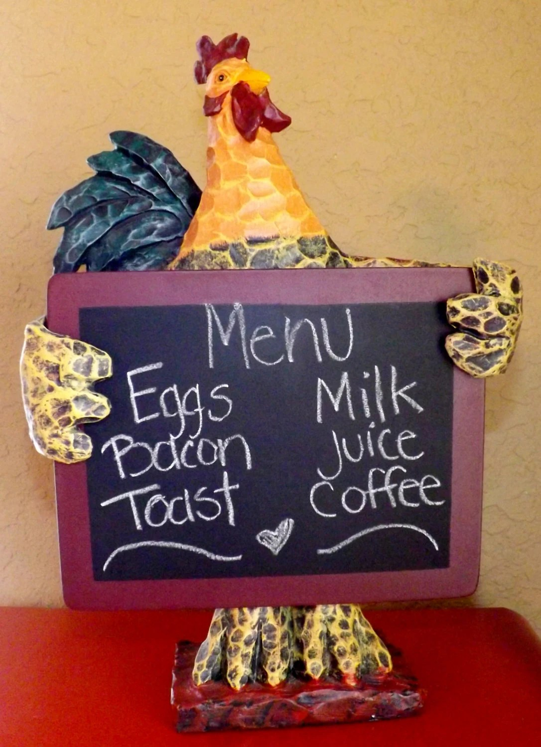 Items similar to Rooster Kitchen Rooster Chalkboard