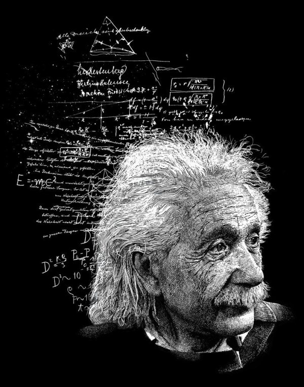 Albert Einstein Physics Art