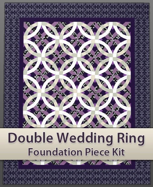 Easy Double Wedding Ring Quilt Piecing Kit