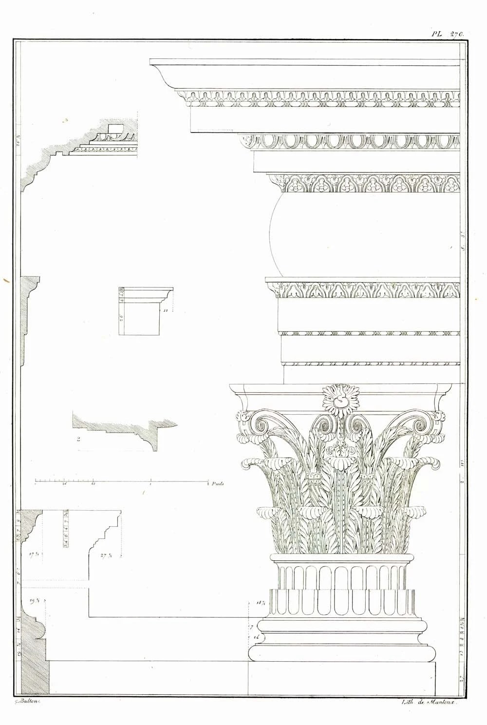 Classical Architecture Temple of Vesta 1842 Palladio