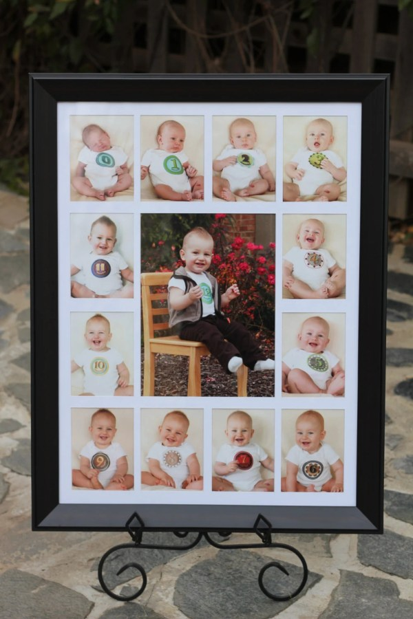 Baby' Year Birth 12 Month Frame School