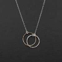 Dual Promise Ring Necklace Promise Collection Circle
