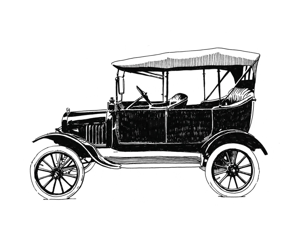 Model T Detroit Giclee Print 8x10