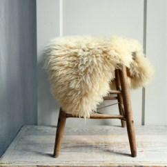 Sheepskin Rug On Chair Outdoor Stackable Covers Australia Vintage Sheep Skin Pelt Fur Cushion