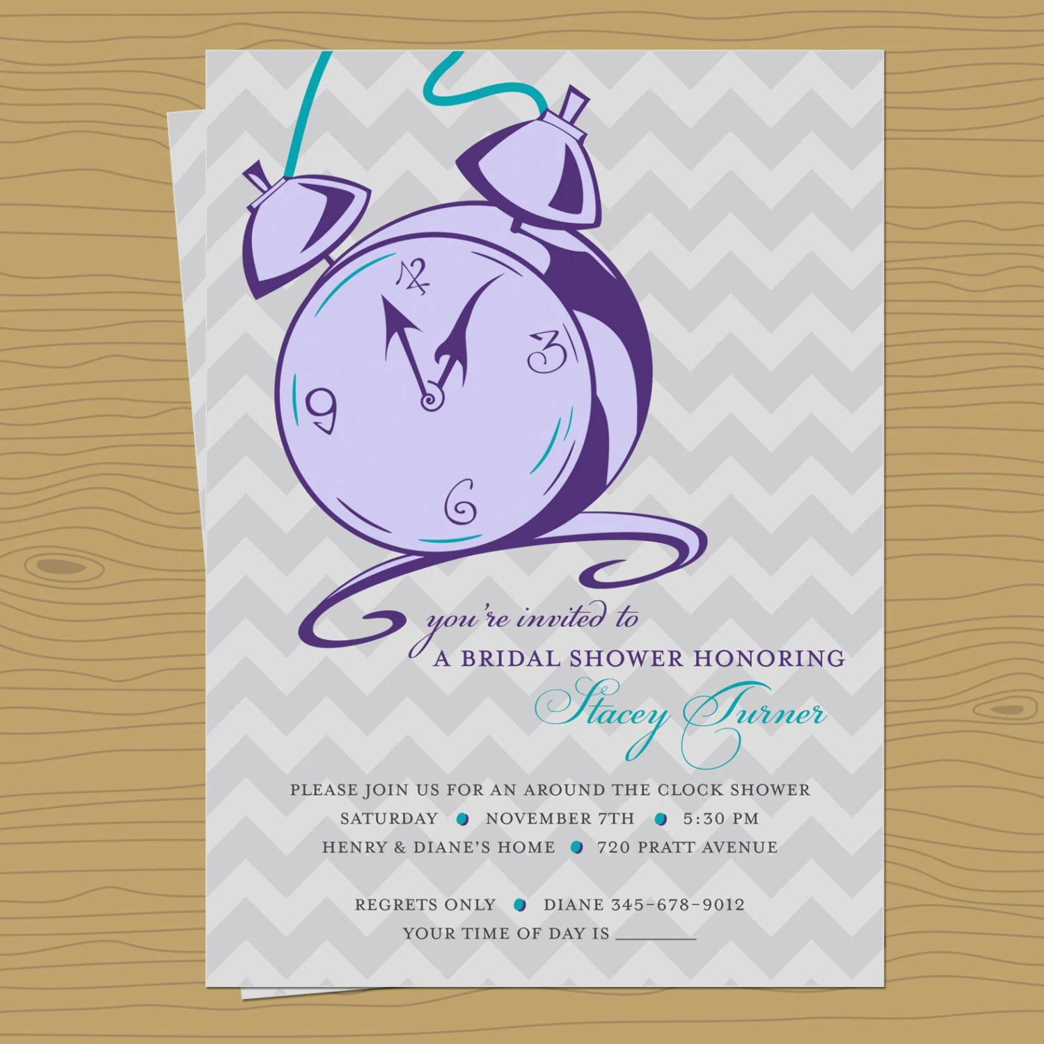 30a44637f3ee Clock Around Ideas Bridal Shower Gift