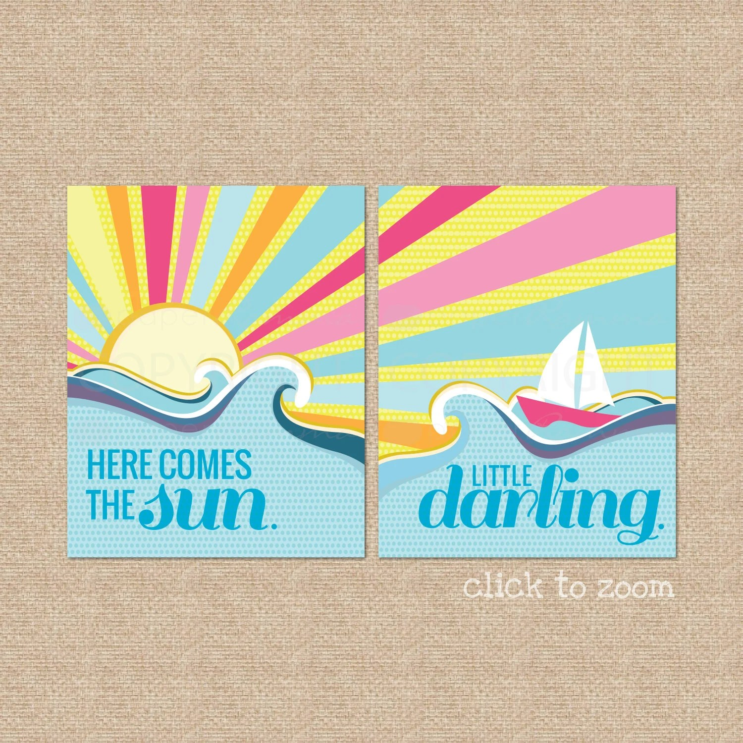Here Comes The Sun Beatles Lyric Giclee Art Prints For