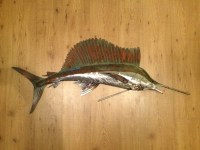 Sailfish Metal Wall Art Fish sculpture Handmade Beach Coastal