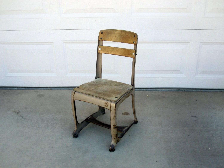 Vintage Mid Century Kids School Chair by Envoy