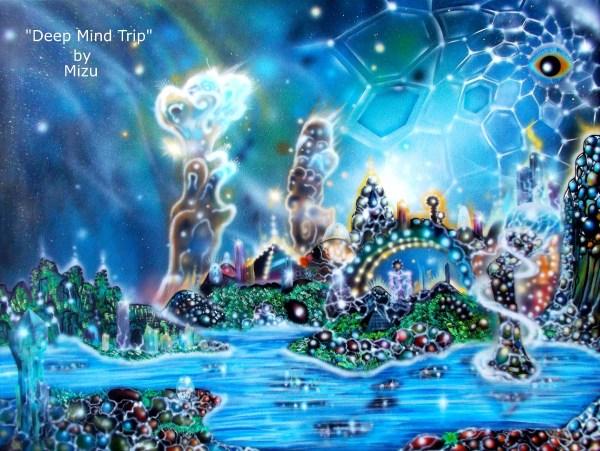 Deep Mind Trip Original Surreal Visionary Art