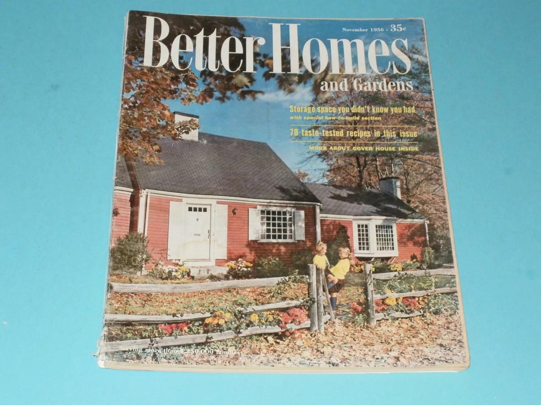 Vintage Better Homes And Gardens Magazine November 1956