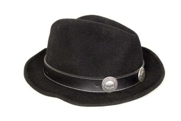 Vintage Harley Davidson Black Cowboy Hat Grassdoll