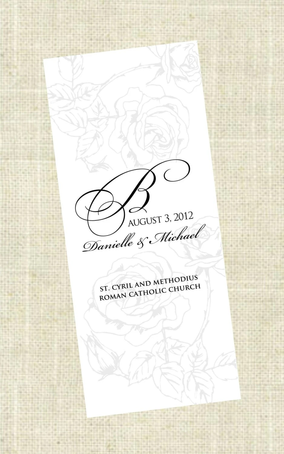 TriFold Printable Wedding Program by ImpressPapers on Etsy