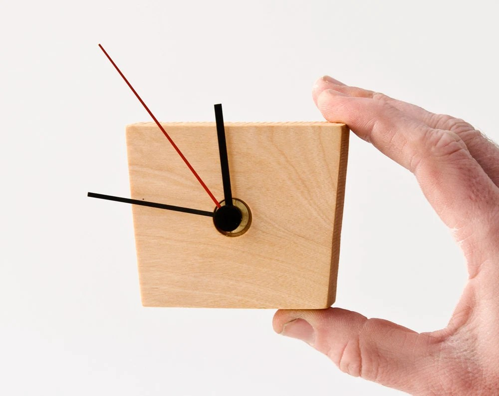 Small Modern Wall Clock Wood Wall Clock EIKO