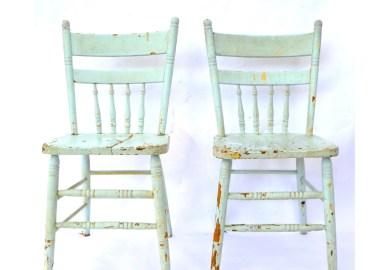 Vintage Wooden Kitchen Chairs