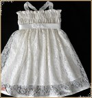 Ivory Lace Flower Girl Dress Party
