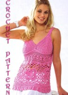Summer  Crochet Topless,Pattern with Chats only and information on yarn and stitches.   Only  in PDF files