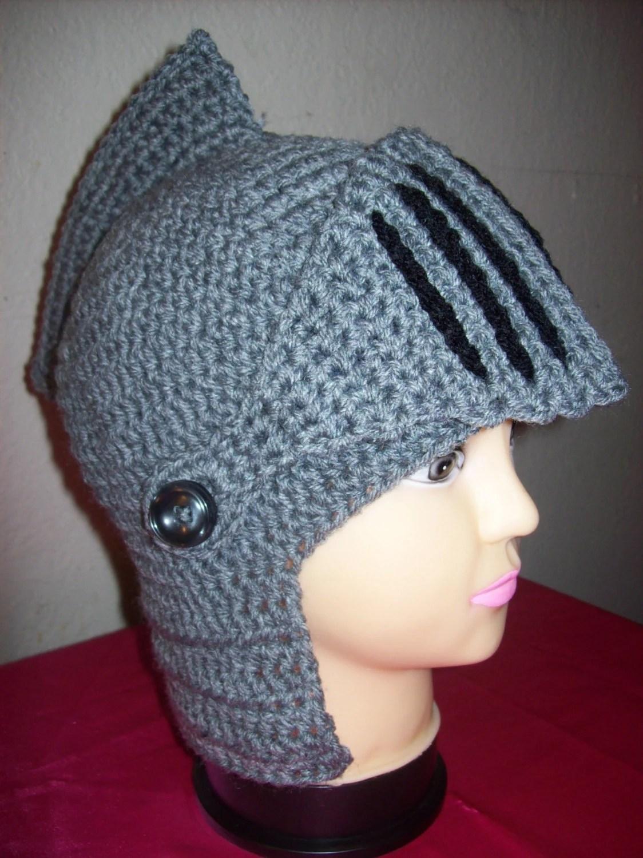 Knights Helmet Hat Knit