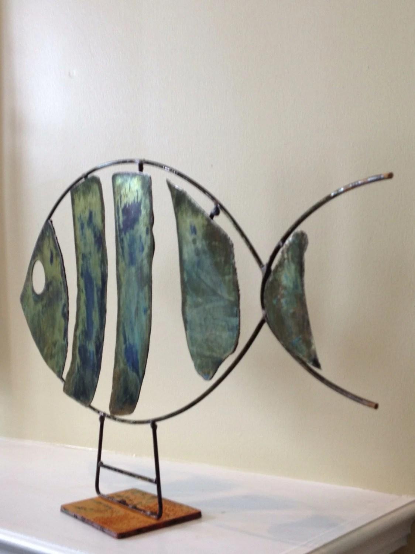 Abstract Scrap Metal Sculpture Fish