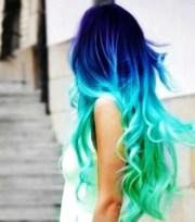 aqua blue mermaid hair chalk