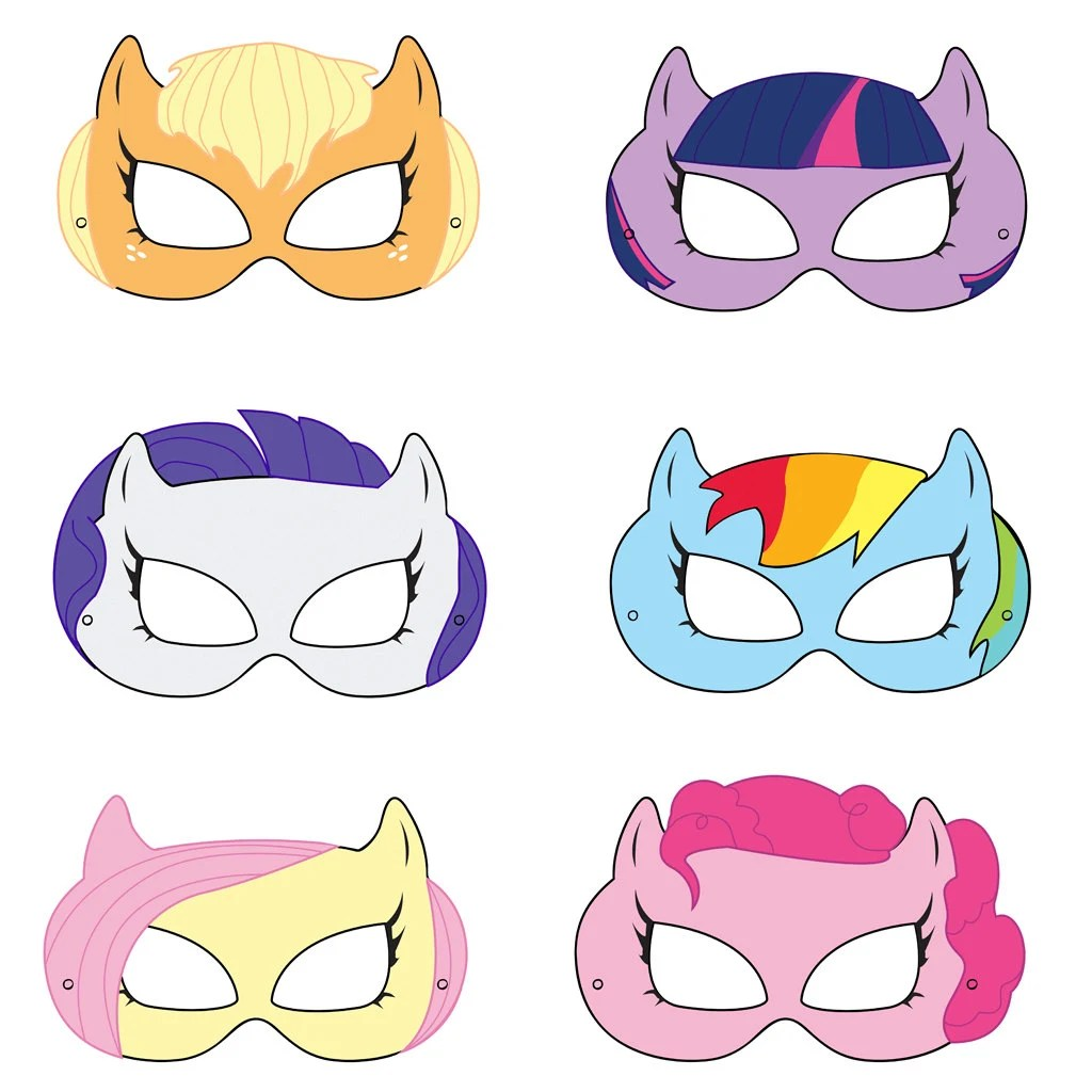 My Little Pony Inspired Printable Masks By Hungrypandasupplies