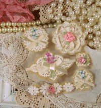 Shabby Chic Lace Paper Embellishments for Paper Craft Projects