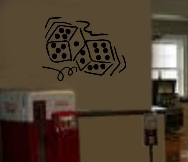 Dice Game Room Vinyl Wall Graphics Art Decal by InfinityDecals