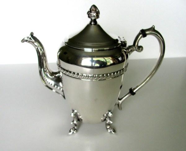 Vintage Teapot Crosby Silver Plate Coffee Pot Downton