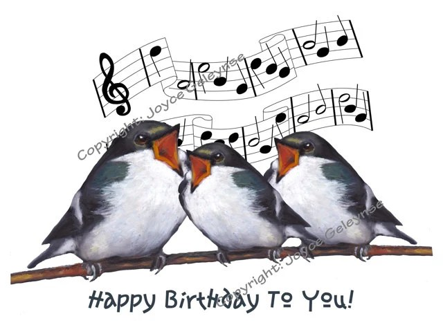 Musical Happy Birthday Clip Art