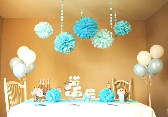 Items similar to Baby Blue Party  Shower DIY Decoration