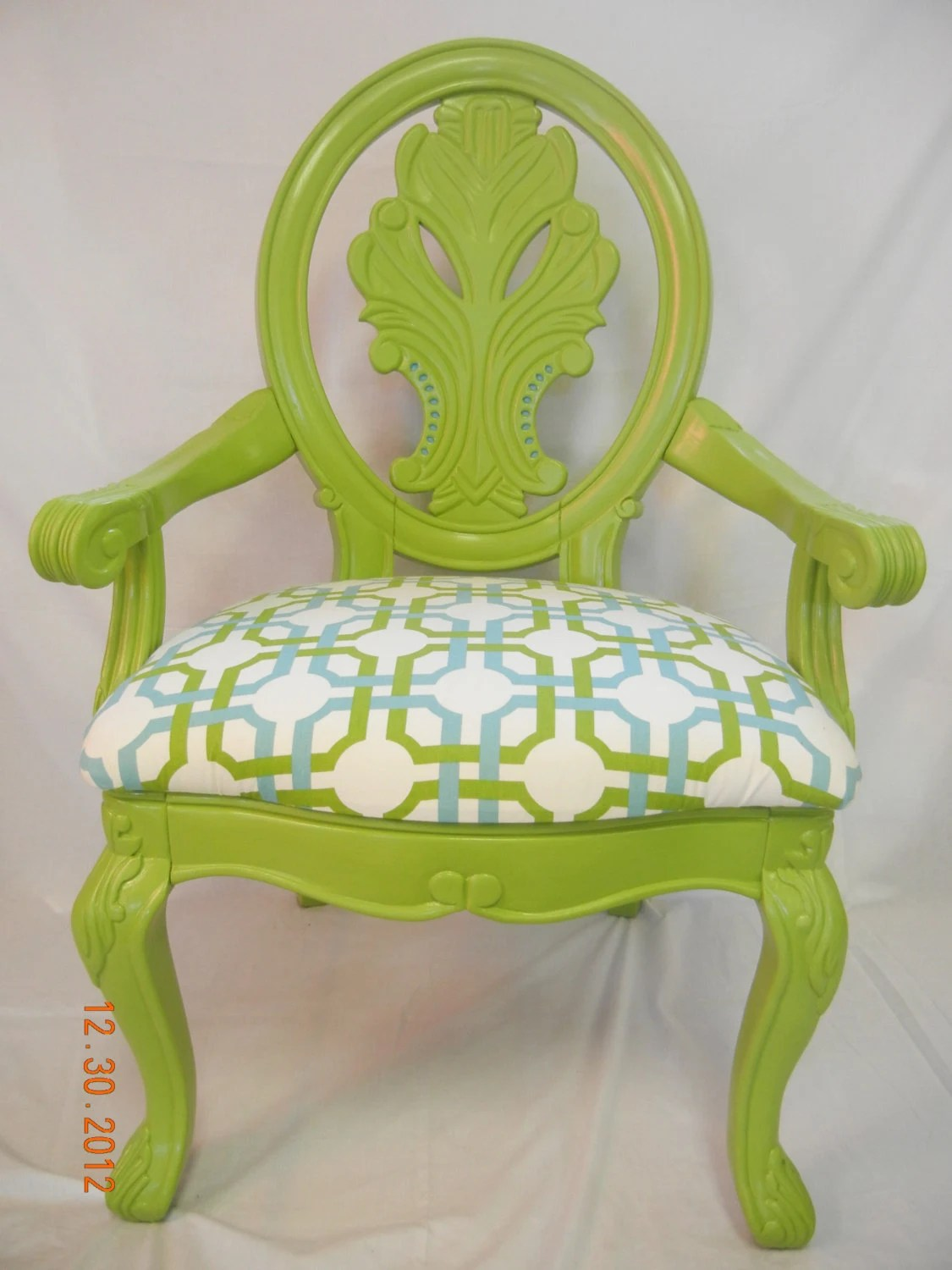 Lime Green Accent Chair Fabulous Ornate Lime And Teal Accent Chair By