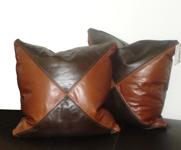 Leather Accent Pillows